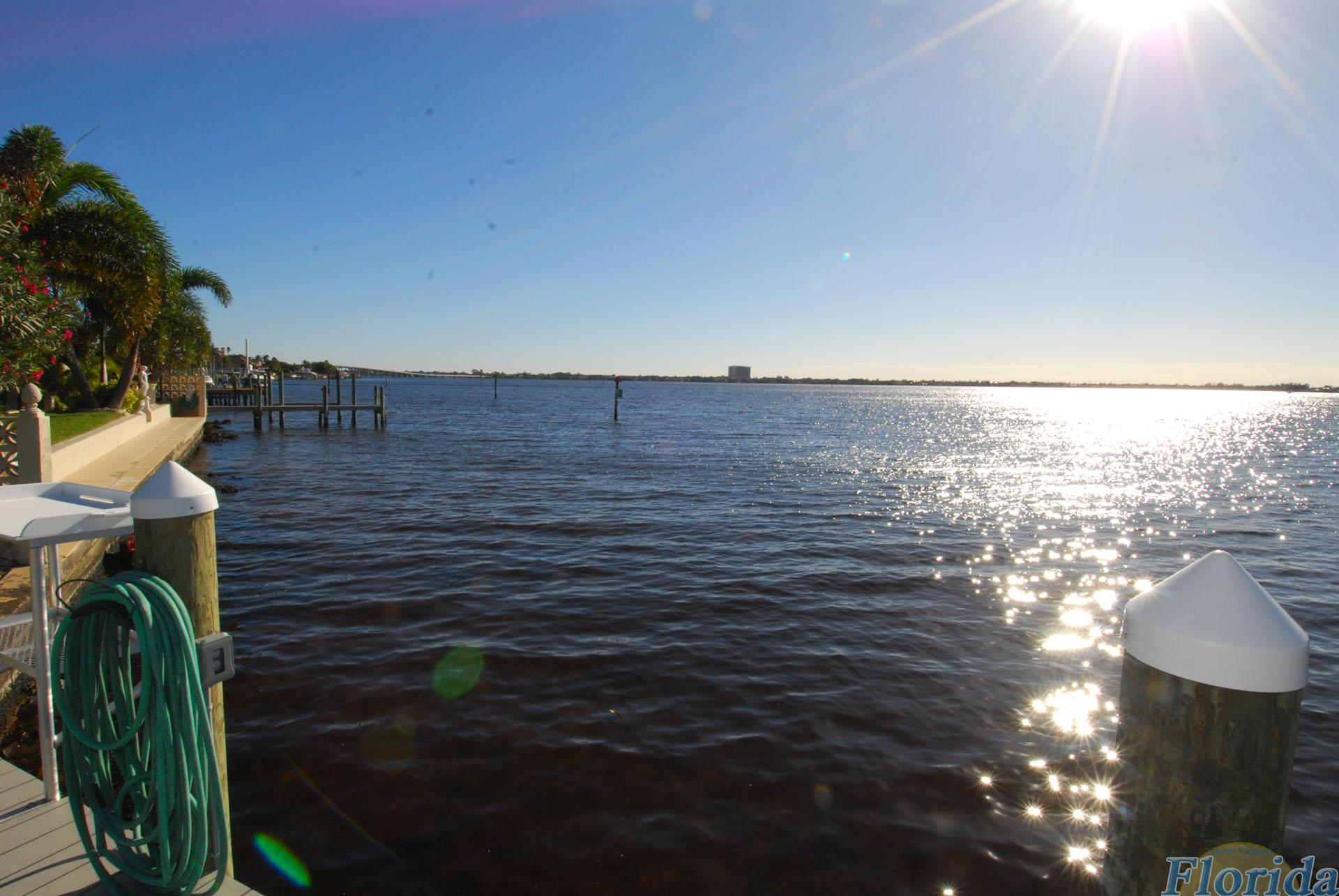 Fantastic view from the dock towards Fort Myers