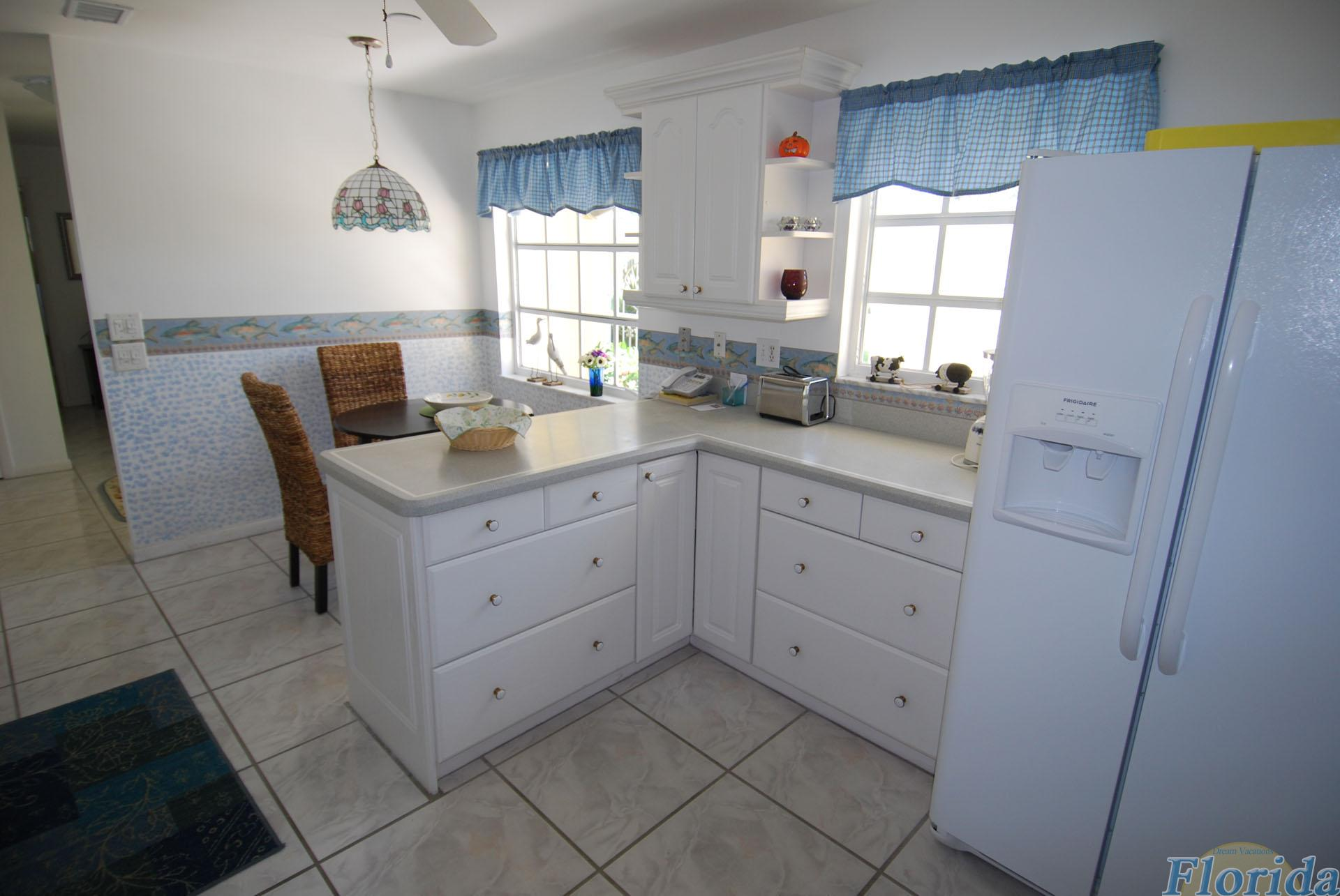 The kitchen was completely renovated